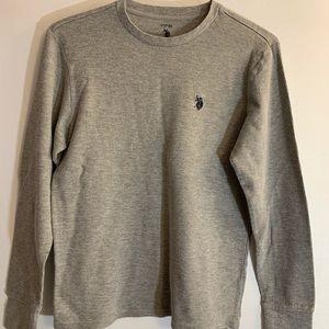 Ralph Lauren Long Sleeve Gray Tee Shirt